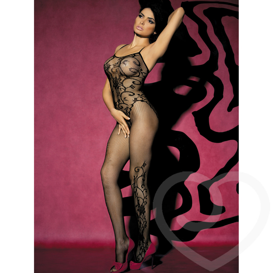 Obsessive Flower Fishnet Bodystocking
