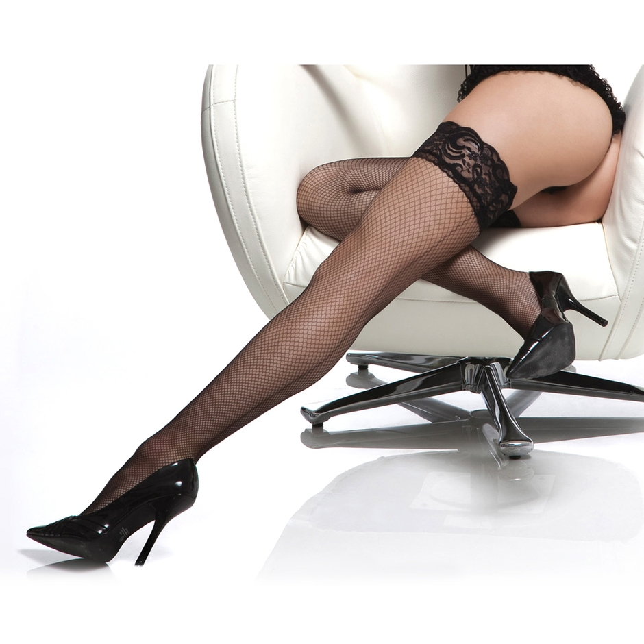 Coquette Diamond Fishnet Thigh Highs