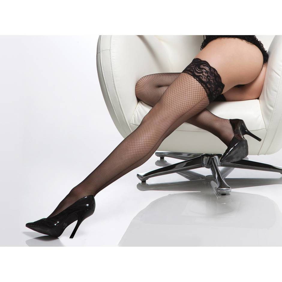 Coquette Diamond Fishnet Hold Up Stockings