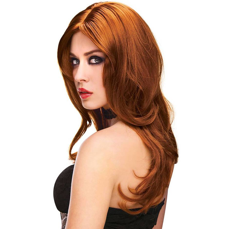 Straight or Wavy Long Auburn Wig