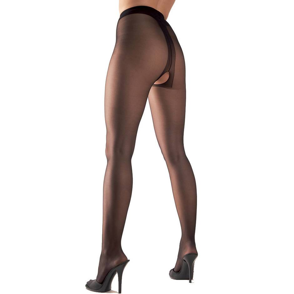 Cottelli Crotchless Black Tights
