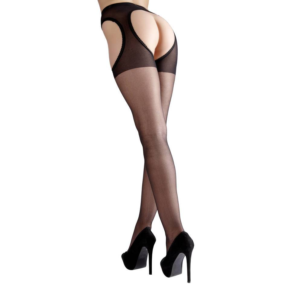 Cottelli Sheer Crotchless Pantyhose