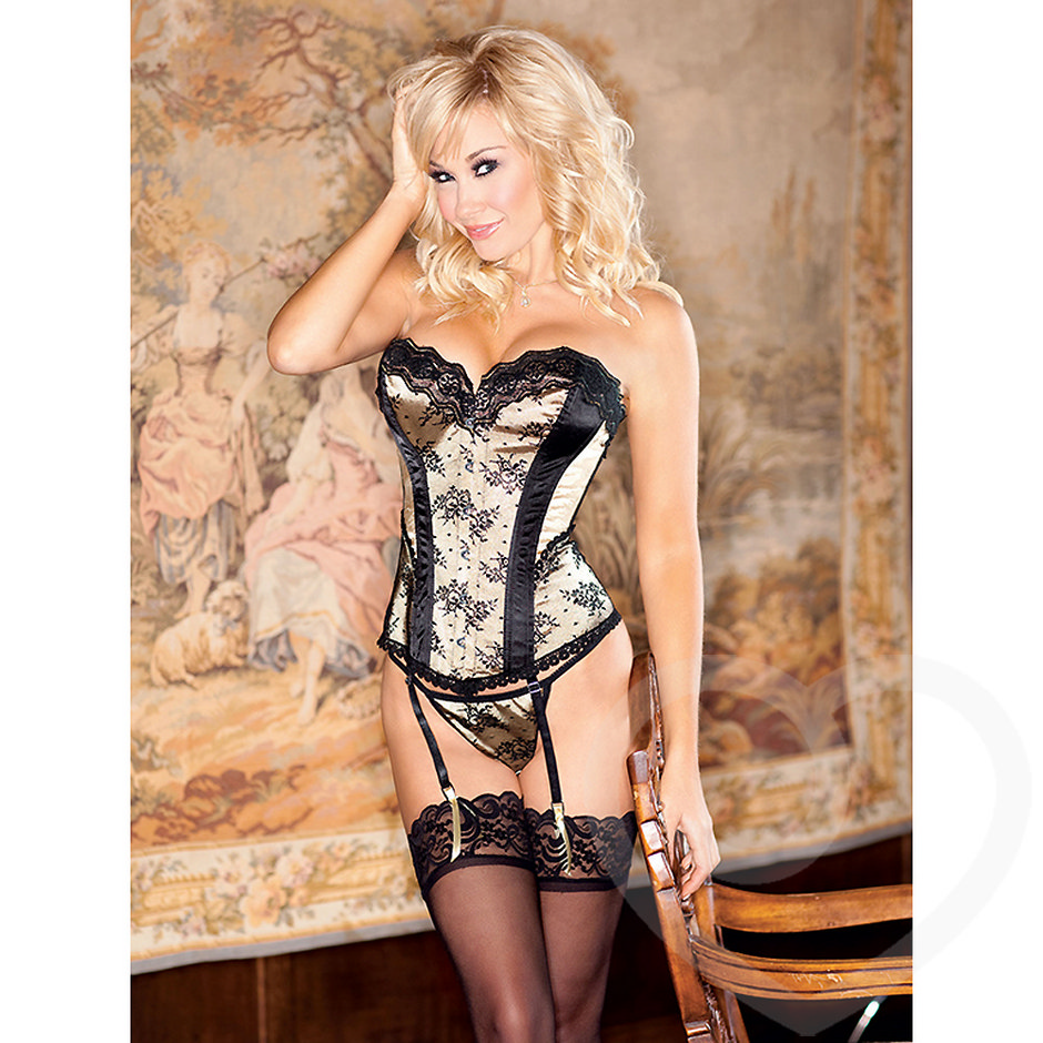 iCollection Bustier mit Spitze in Gold