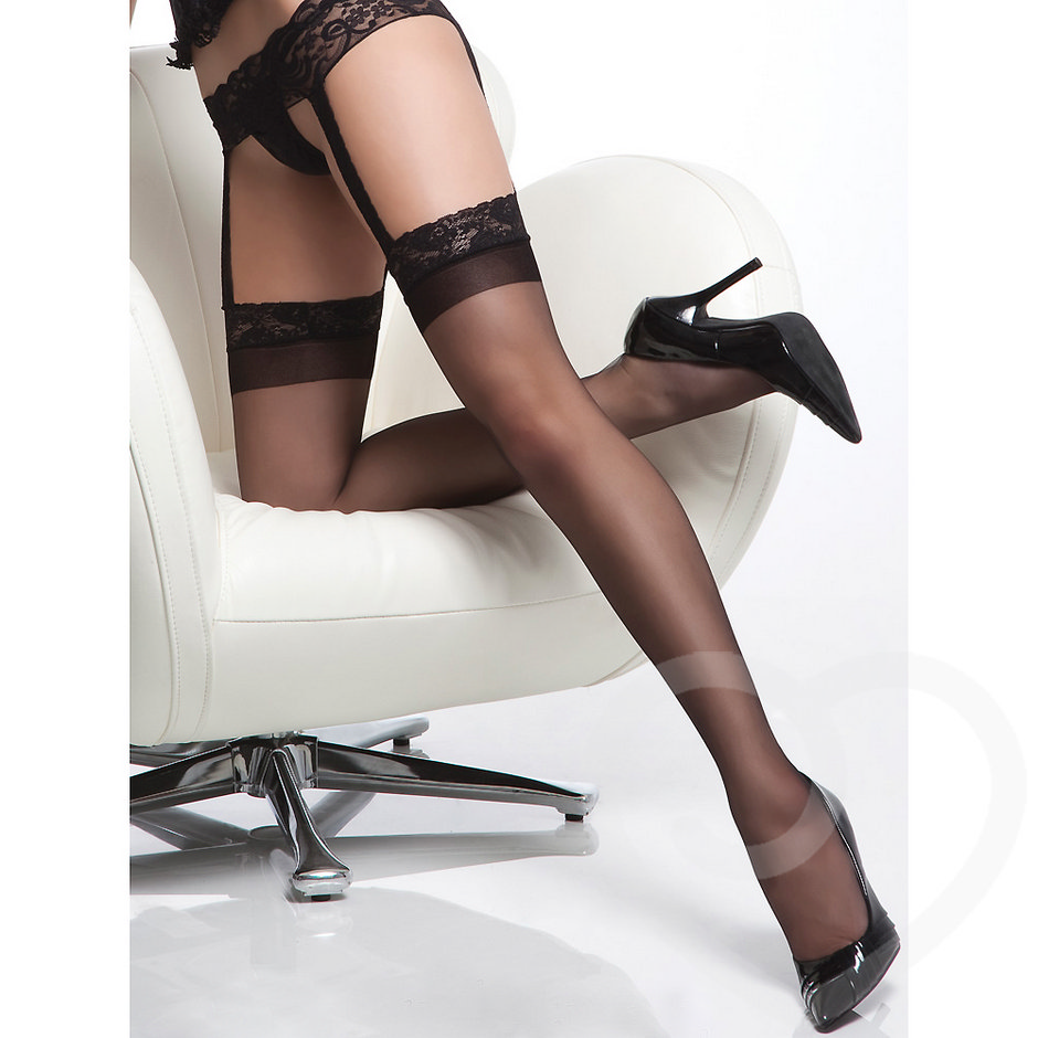 Coquette Sheer Stockings with Lace Garter Belt