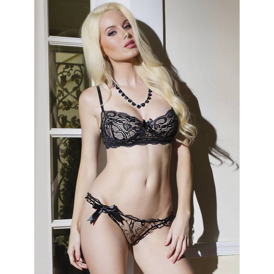 Coquette Floral Lace Bra and Panty Set