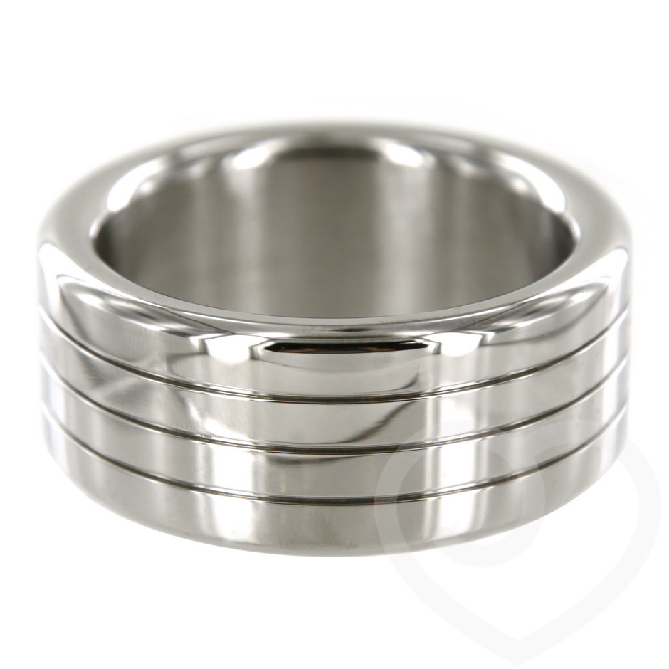 Stainless Steel 1.75 Inch Mega Wide Banded Cock Ring