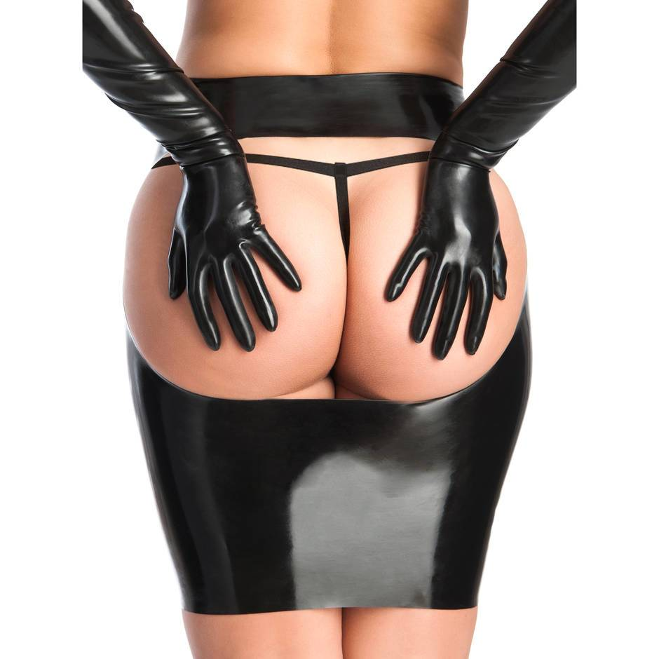 Rubber Girl Latex Spanking Mini Skirt