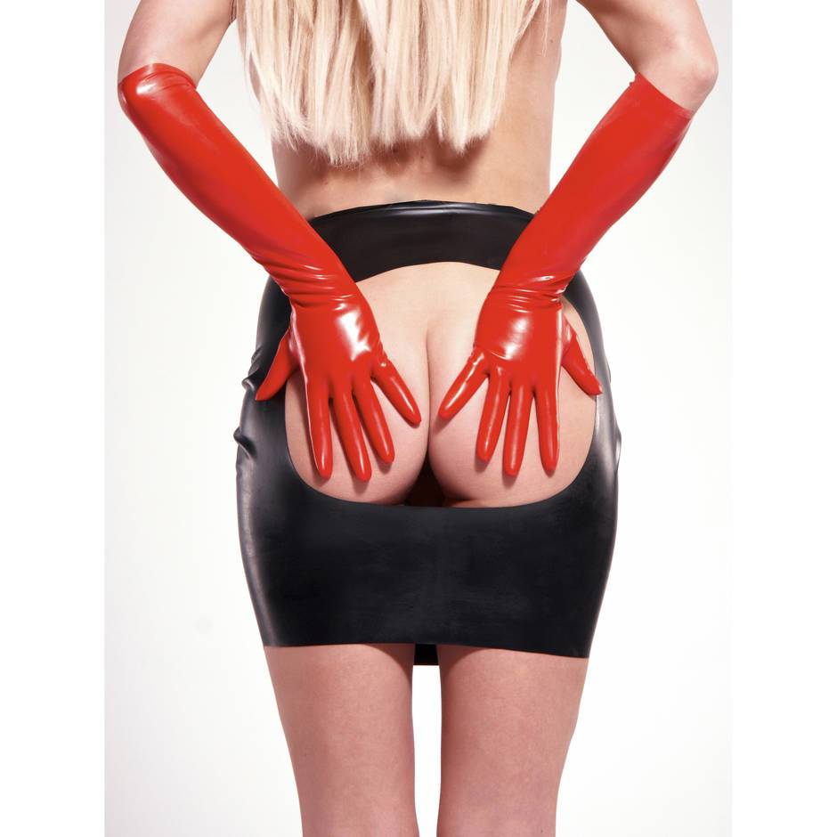 Rubber Girl - Spanking-Rock aus Latex