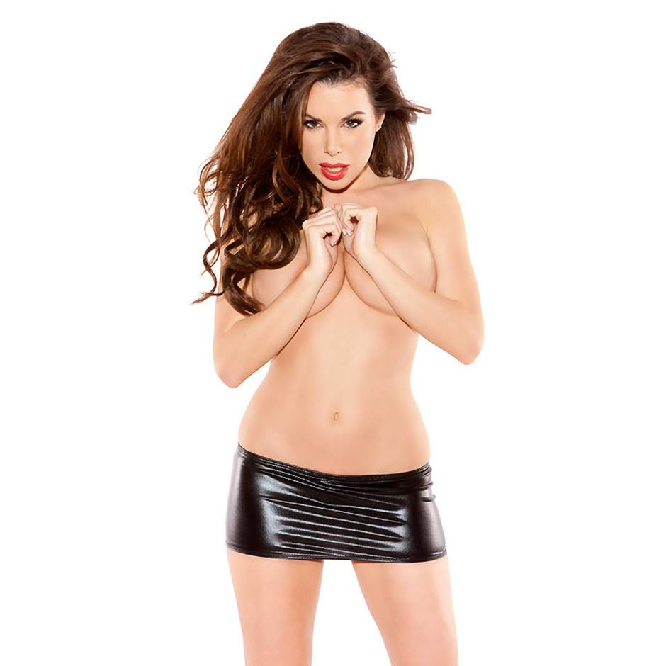 Kitten by Allure Fetishwear Wet Look Mini Skirt