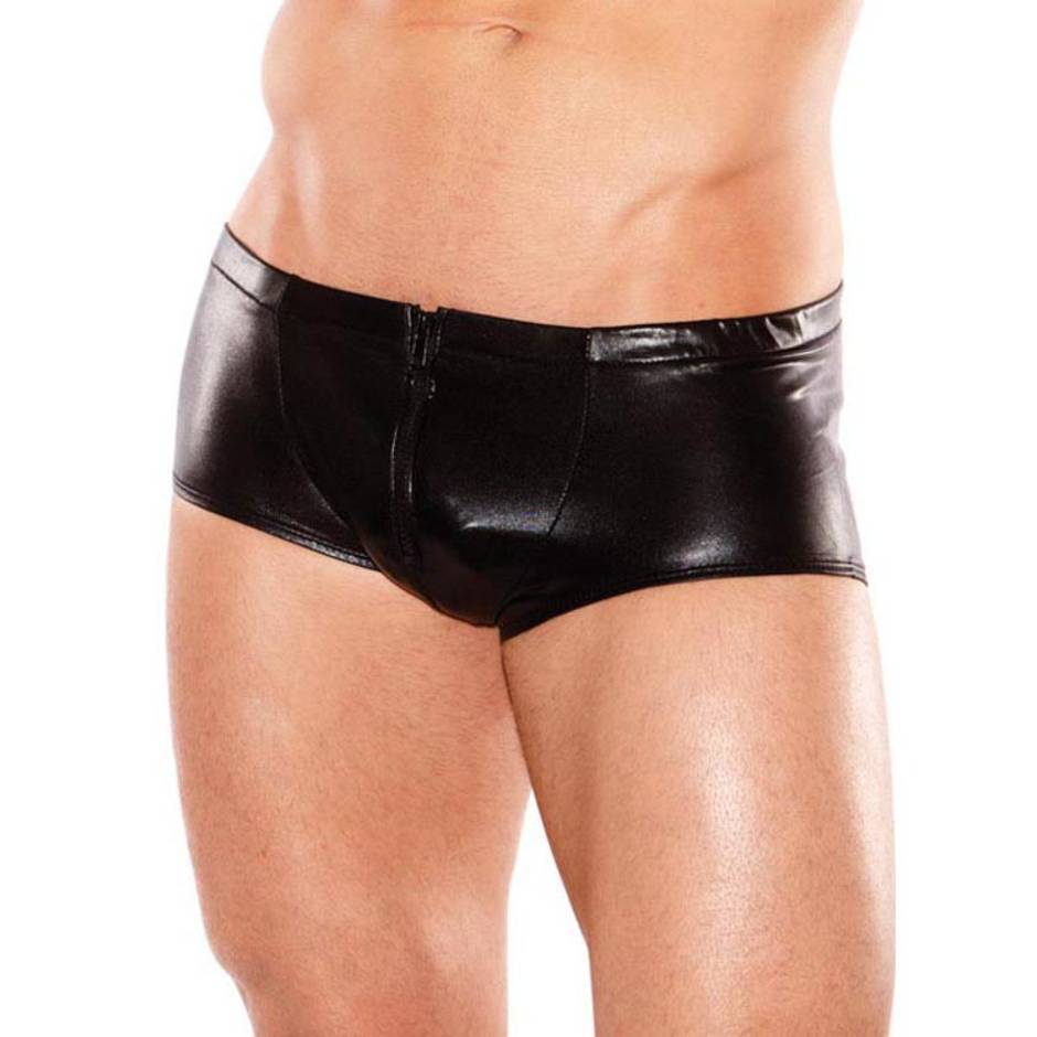 Boxer wetlook zip frontal Zeus, Allure Fetishwear