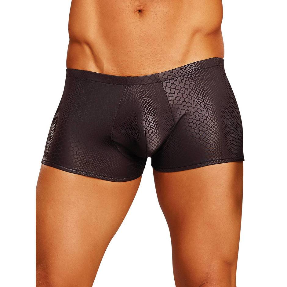 Male Power Black Cobra Print Tight Boxer Shorts