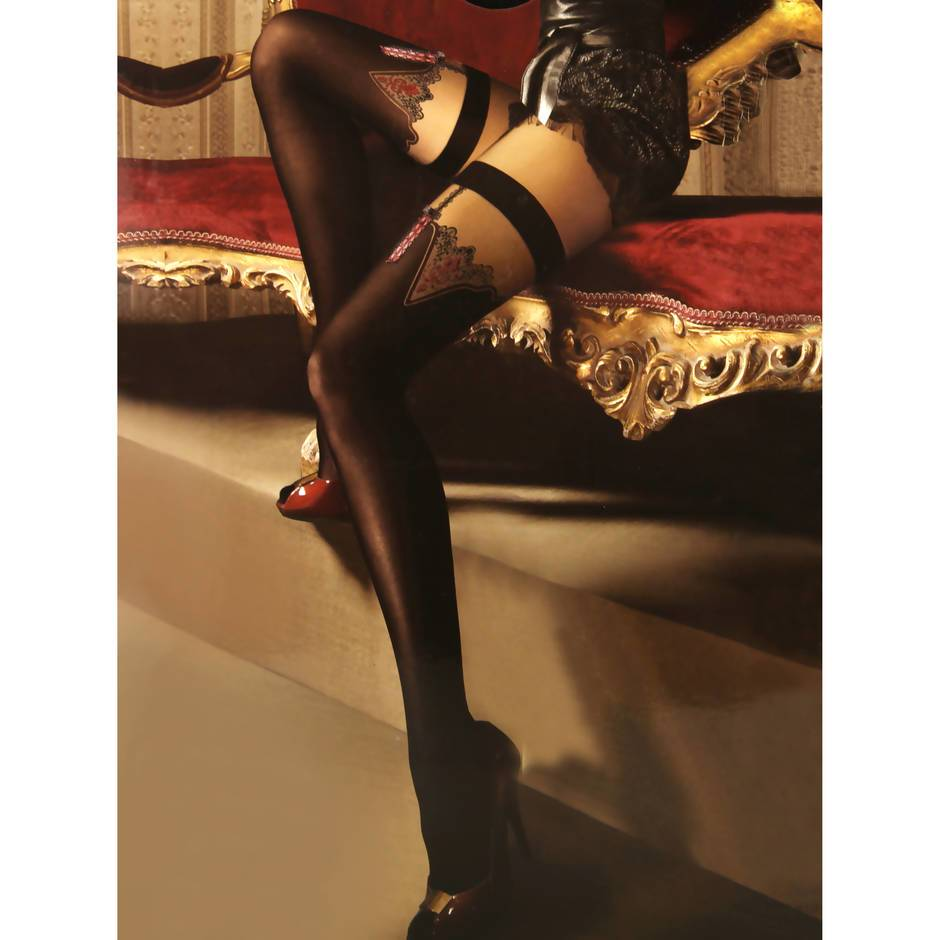 Roza Ballerina Solaris Rococo Hold Up Stockings