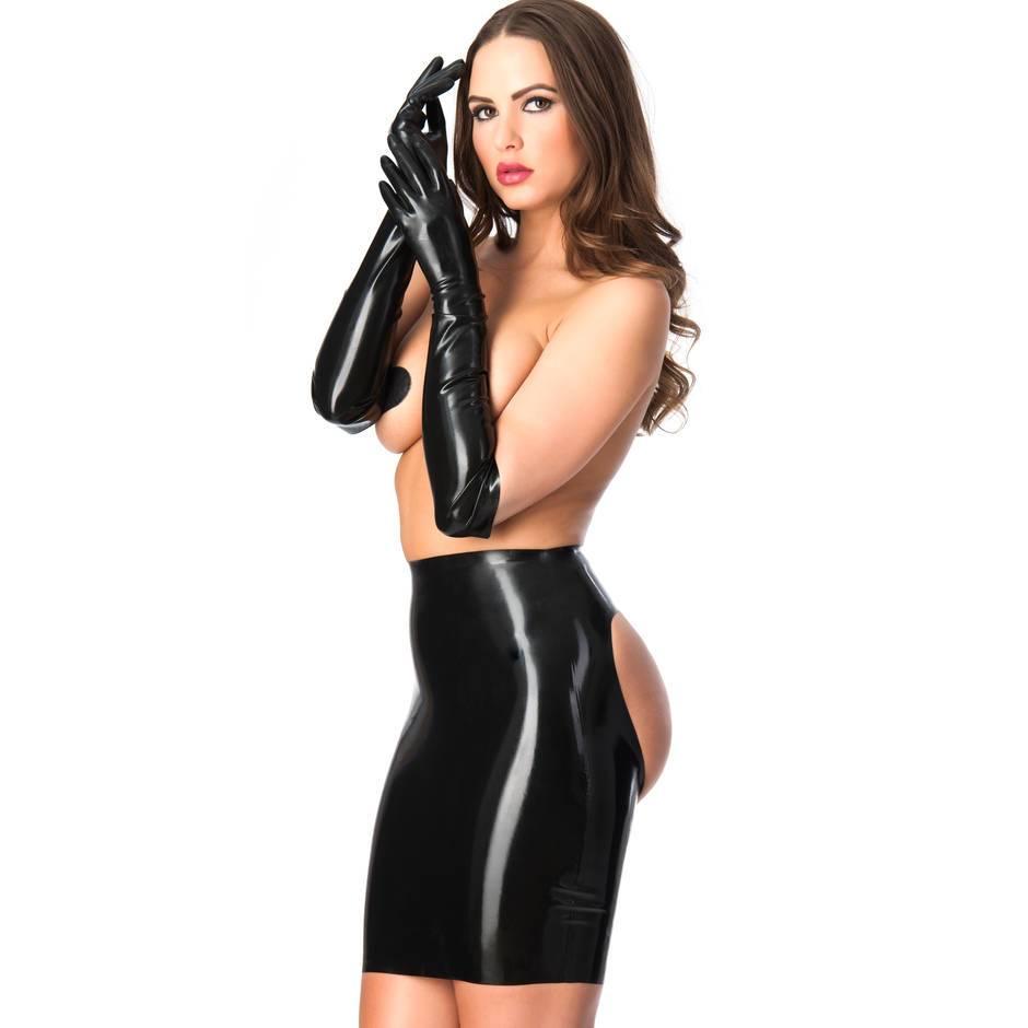 Girl latex gloves