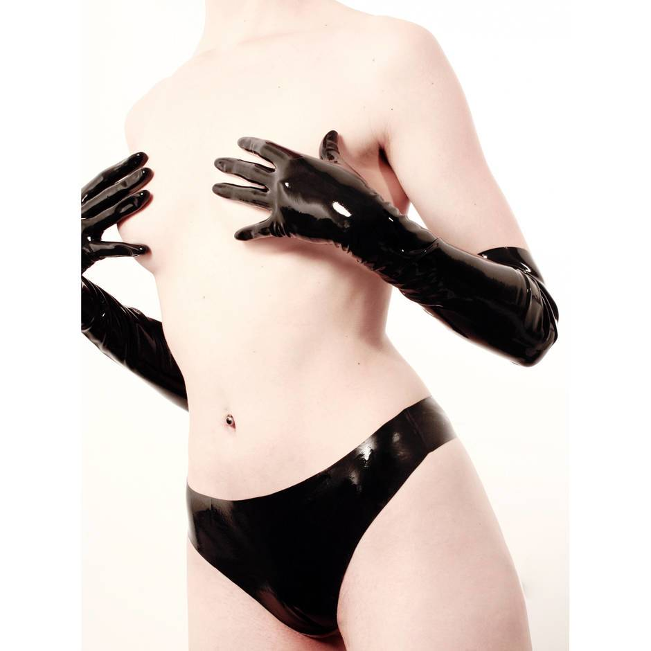 Rubber Girl Elbow Length Latex Gloves