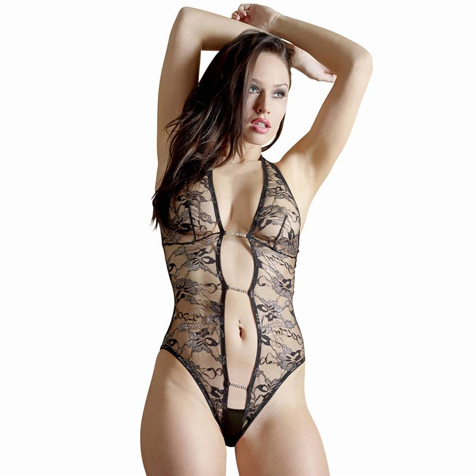 Body fendu dentelle transparente Abierta Fina, Cottelli