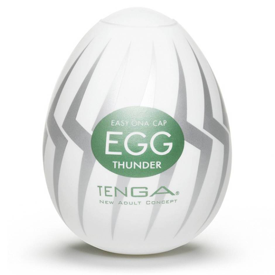 TENGA Egg Thunder Bolt Textured Male Masturbator