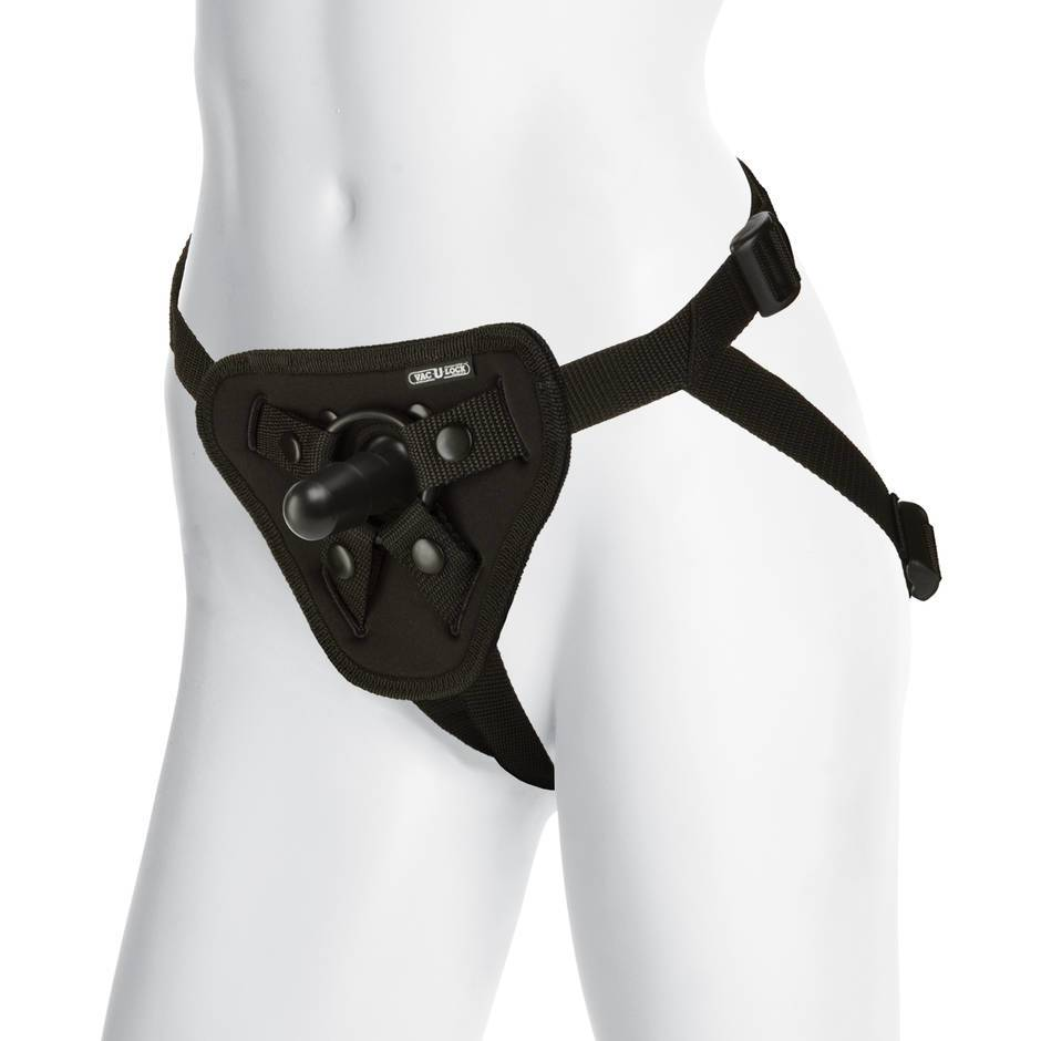 Doc Johnson Vac-U-Lock Luxe Harness with Plug and O-Rings