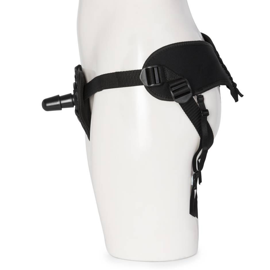 Doc Johnson Vac-U-Lock Platinum Corset Harness with Plug | honey