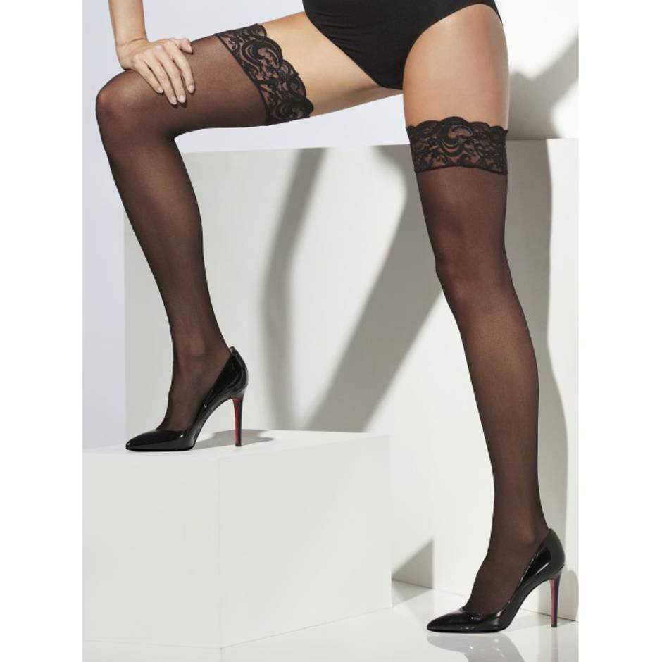 Fever Sheer Hold-Ups with Lace Tops