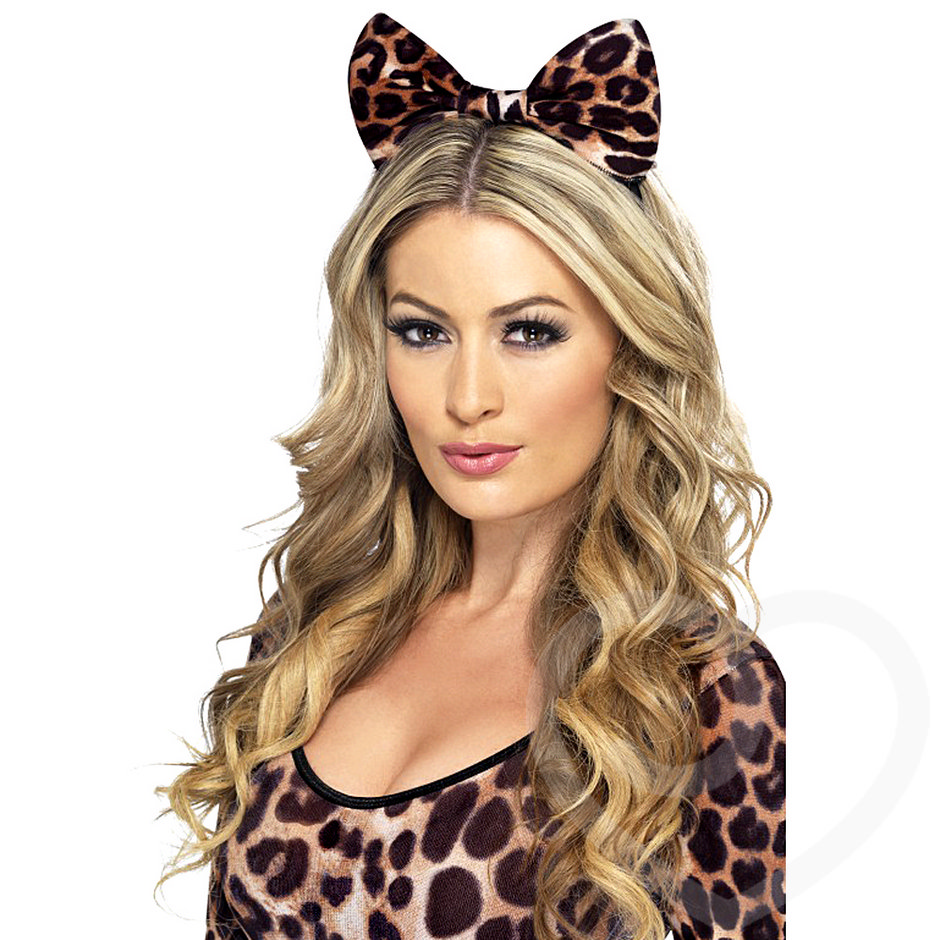 Fever Brown Tiger Print Bow Headband