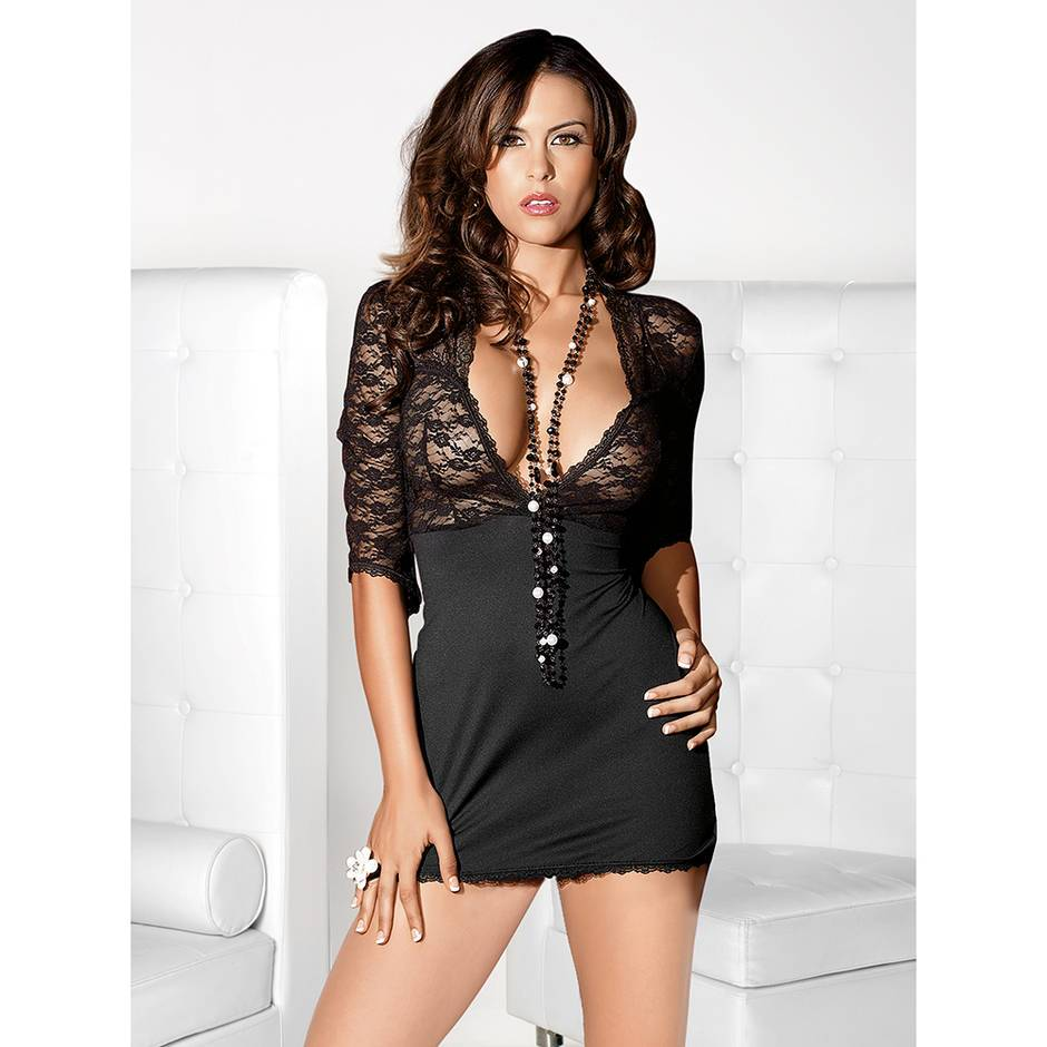 Escante Stretch Lace Sexy Mini Dress