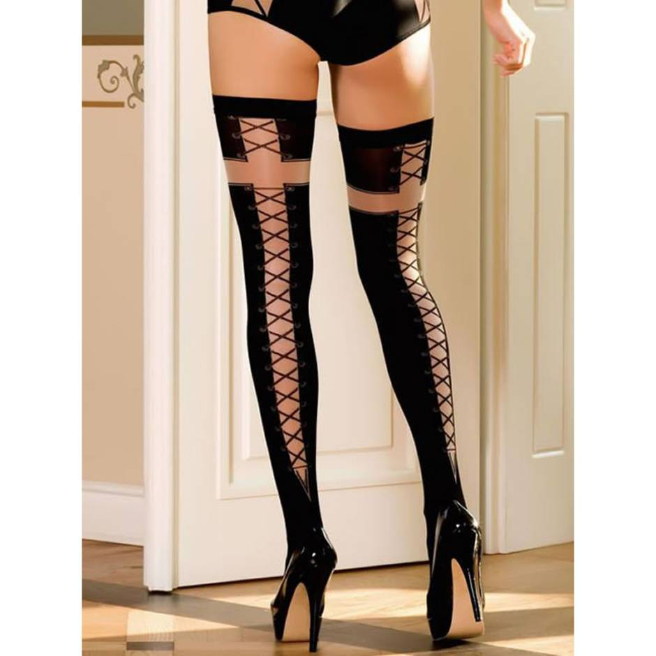 Roza Ballerina Efi Corset-Style Hold Up Stockings