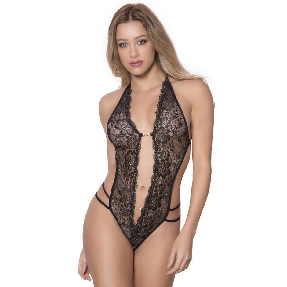 Oh La La Cheri Crotchless Lace Body
