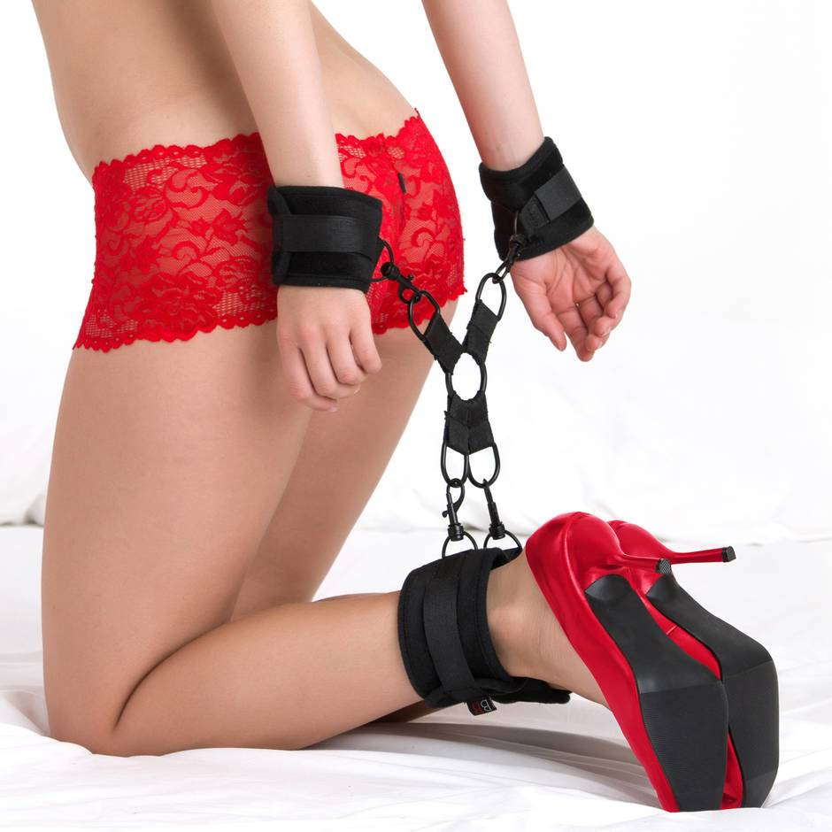 Bondage Boutique Soft Velvet Hogtie Set