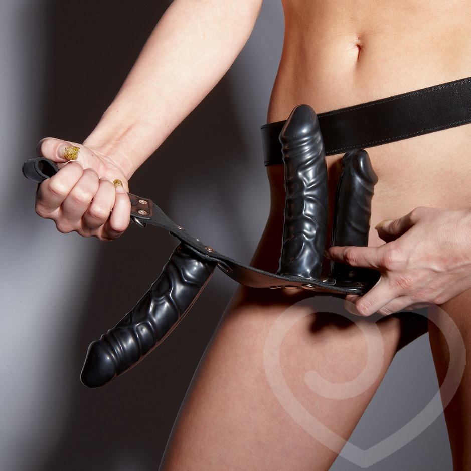 Harness dildo leather men