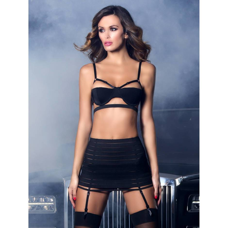 Oh La La Cheri Bandage Bra and Skirt Set