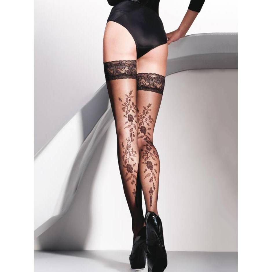 Gabriella Vera Lace Top Floral Patterned Hold-Ups
