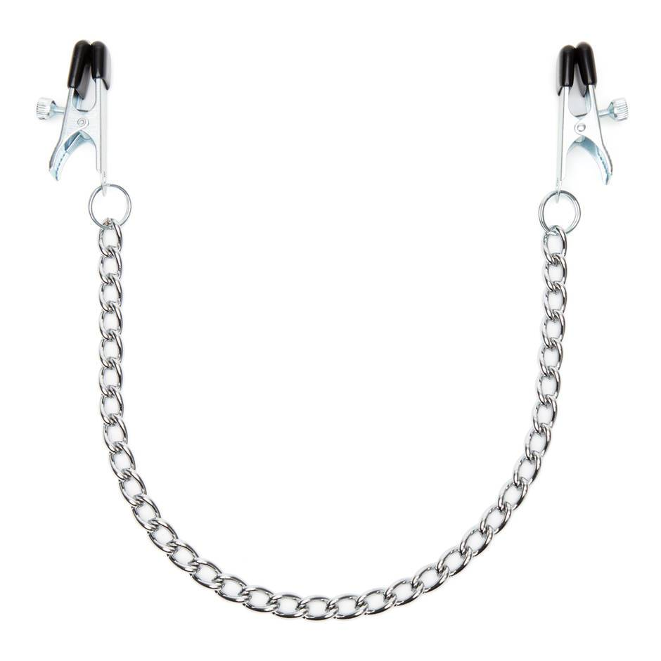 DOMINIX Deluxe Adjustable Nipple Clamps with Chain