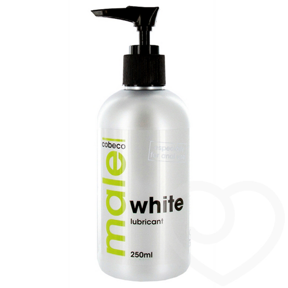 Male Cobeco White Water-Based Anal Lubricant 250ml
