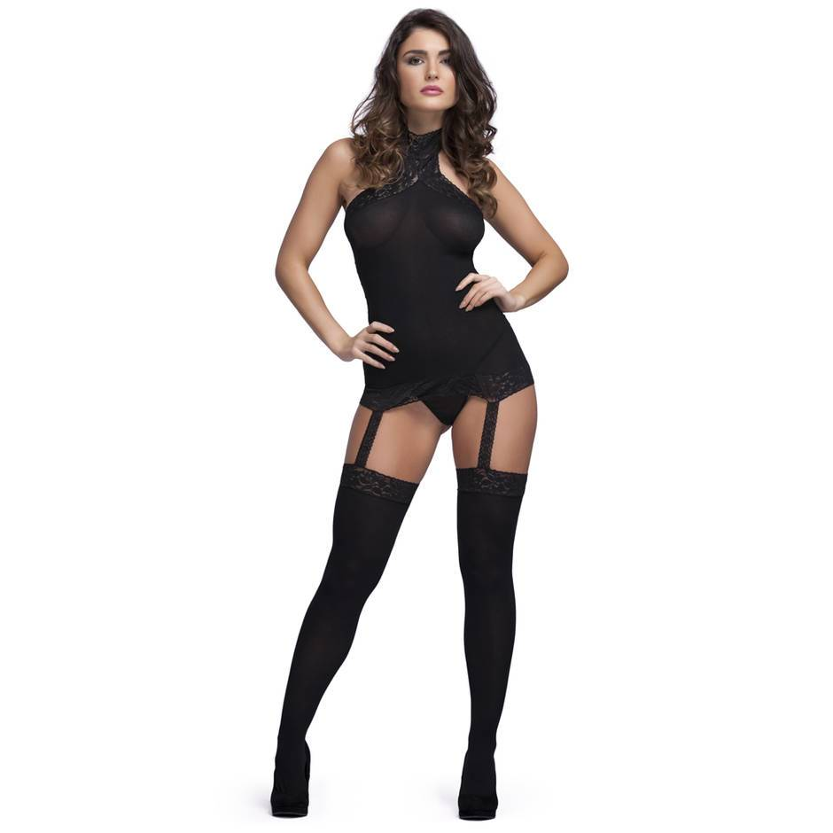 Sheer Suspender Bodystocking