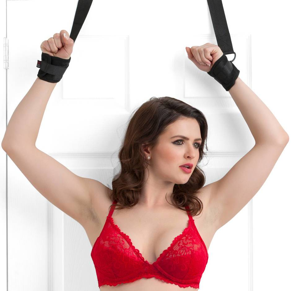 Bondage Boutique Soft Over-The-Door Handcuffs