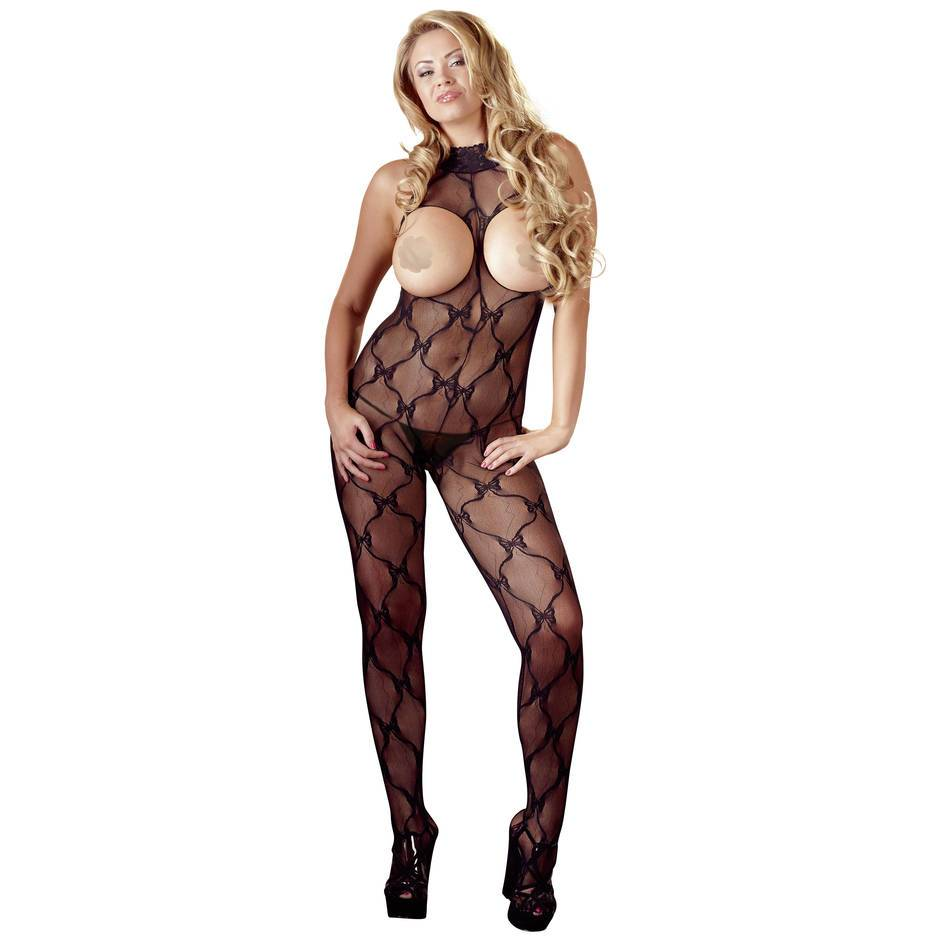 Mandy Mystery Plus Size Bodystocking ouvert mit offenen Cups
