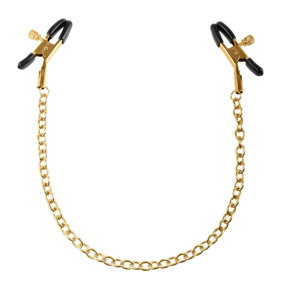 Fetish Fantasy Gold Chain Adjustable Nipple Clamps
