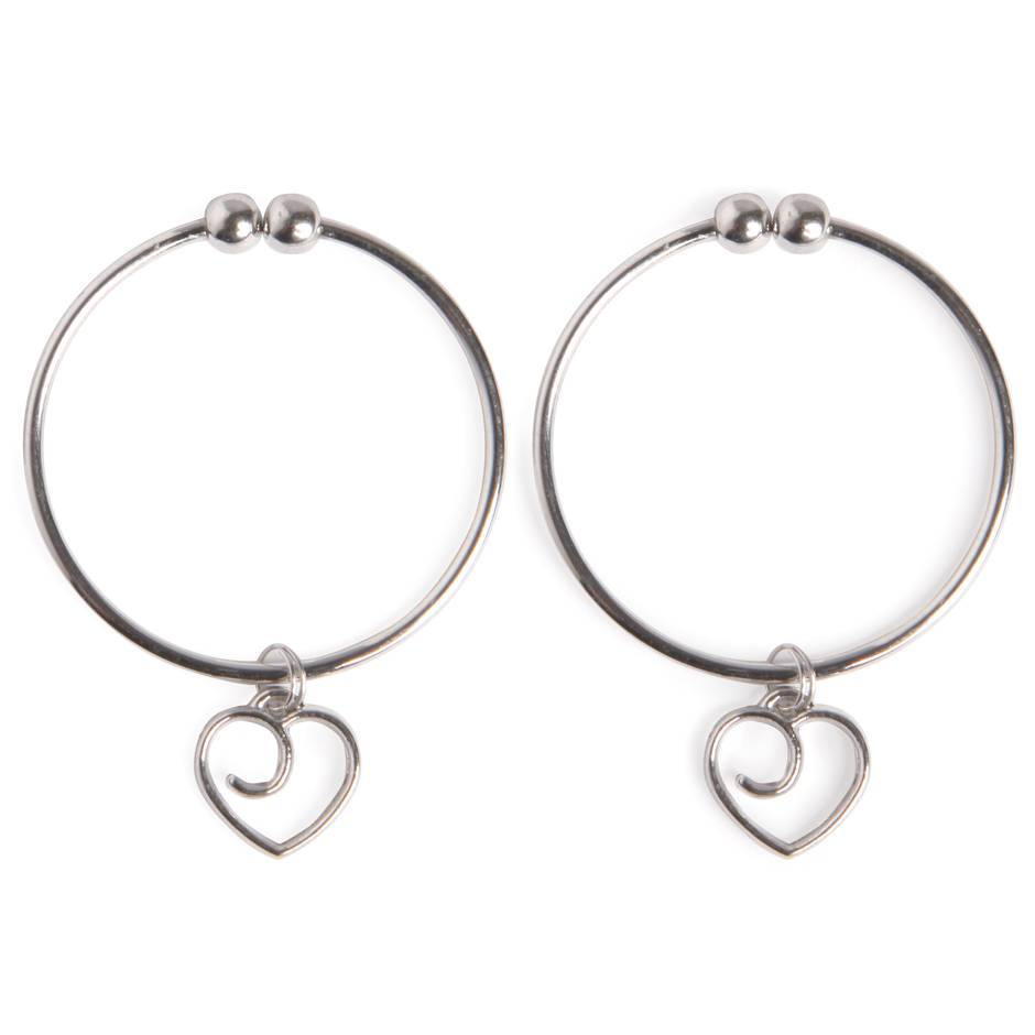 Lovehoney Tease Me Nipple Rings with Heart Charms