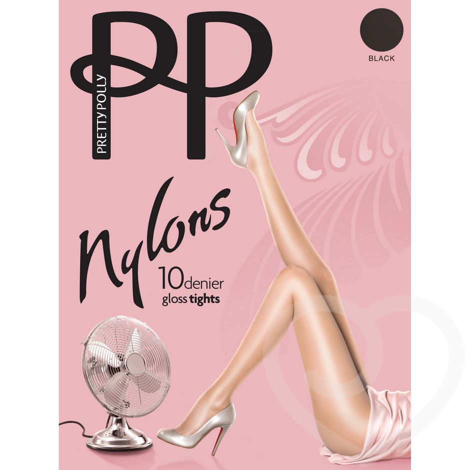 Pretty Polly Nylons 10 Denier Glossy Tights Barely Black