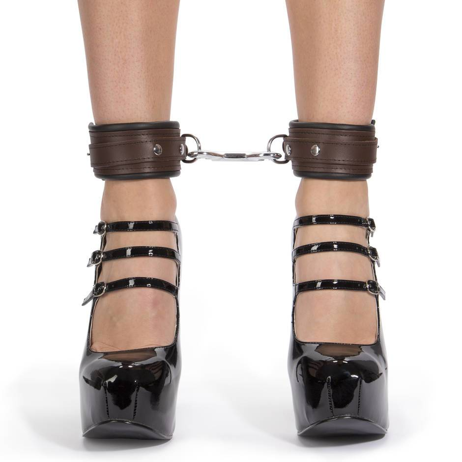 DOMINIX Deluxe BRAUN Leather Ankle Cuffs