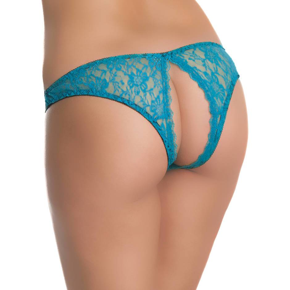 Oh La La Cheri Open Back Crotchless Lace Knickers