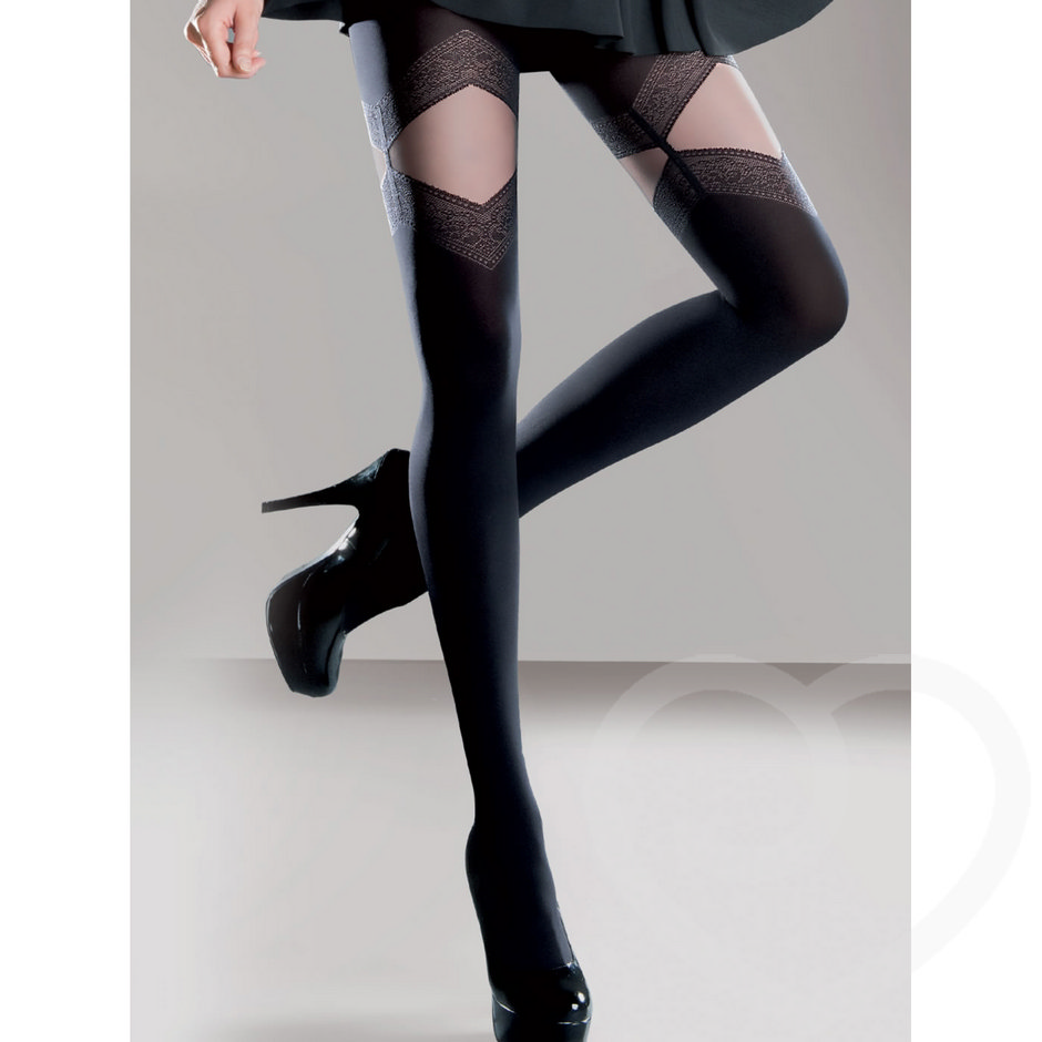 Gabriella Melia Mock Suspender Opaque Tights