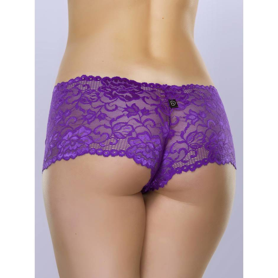 Lovehoney Flirty Purple Lace Shorts