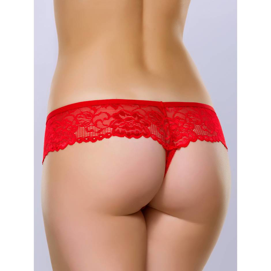 String en dentelle rouge Flirty, Lovehoney