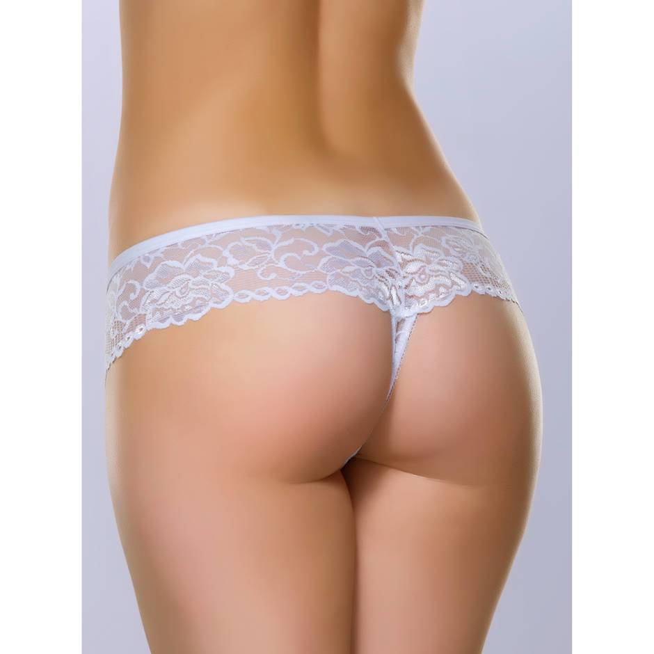 String en dentelle blanche Flirty, Lovehoney