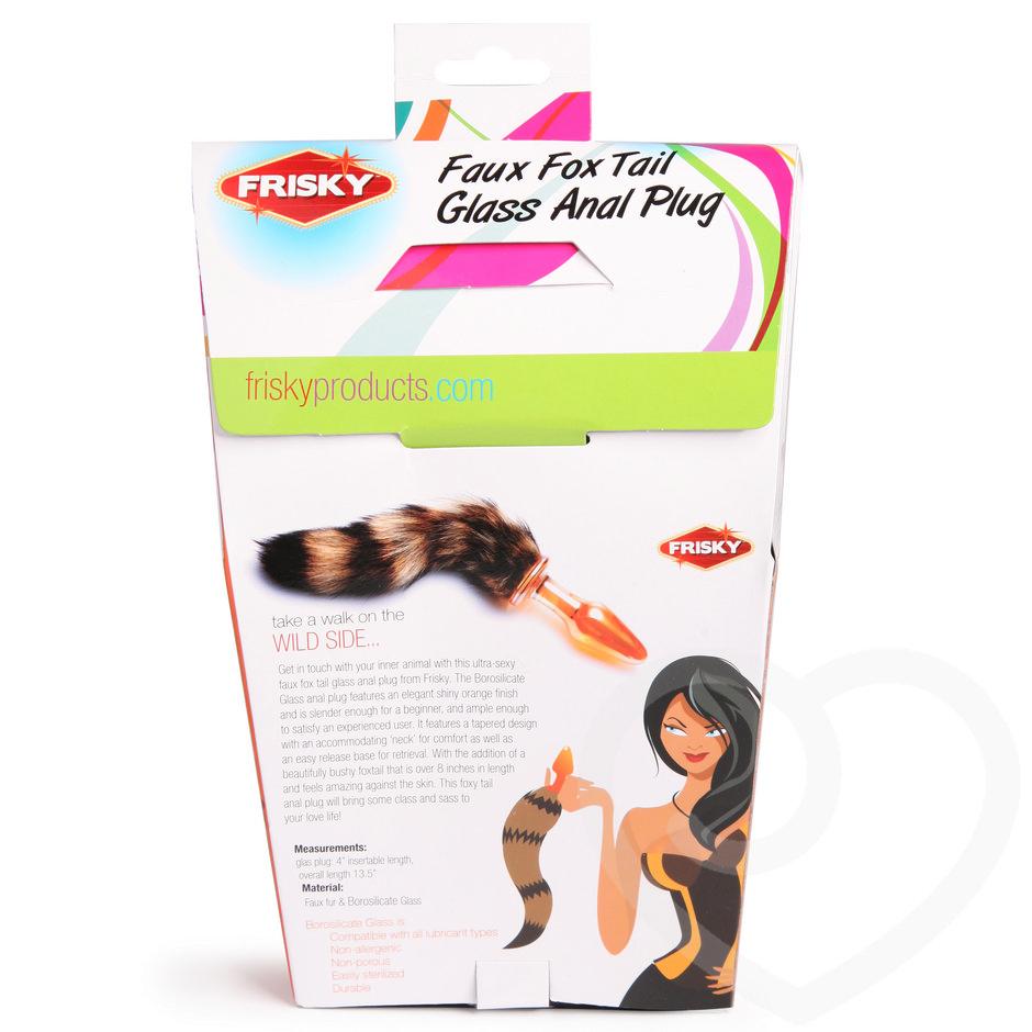 Frisky Faux Fur Fox Tail Glass Butt Plug - Lovehoney-1437