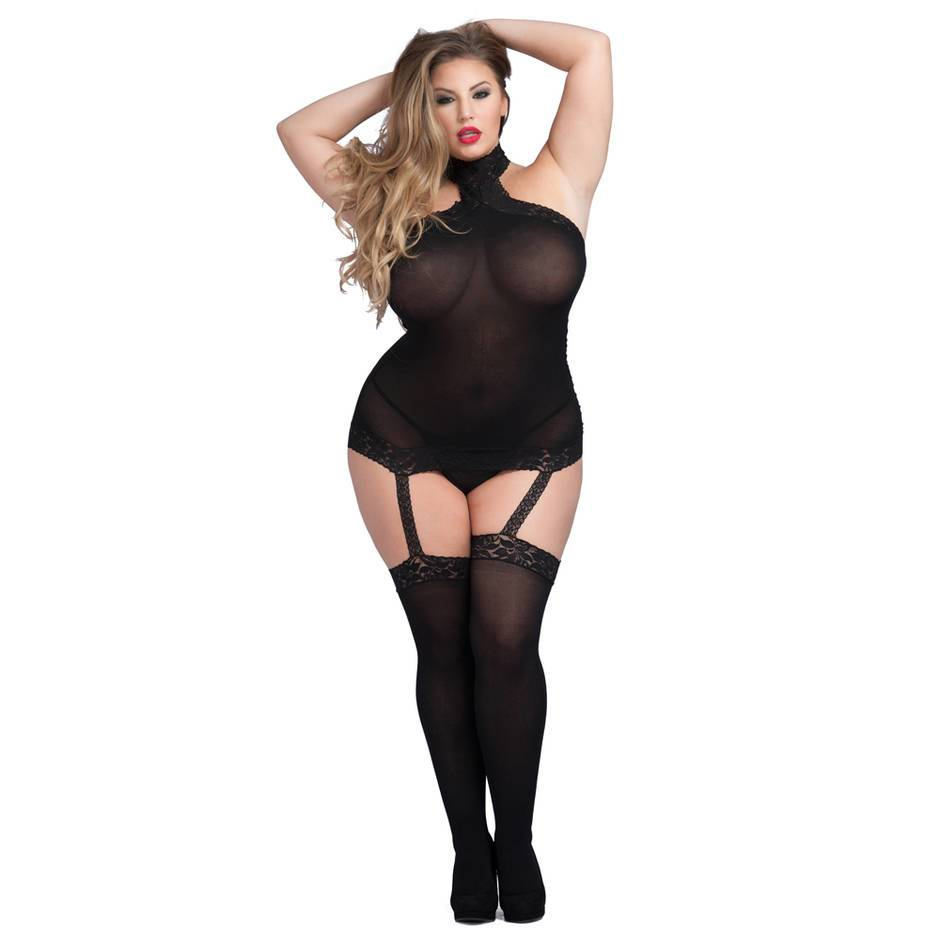 Lovehoney Plus Size Sheer Garter Bodystocking