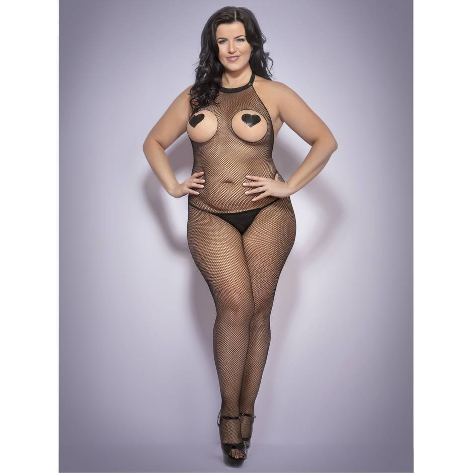 Lovehoney Plus Size Seamless Crotchless Bodystocking
