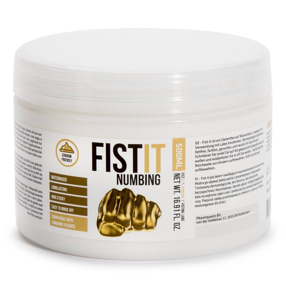 Lubricante Anal Desensibilizante a Base de Agua 500ml Numbing de Fist-It