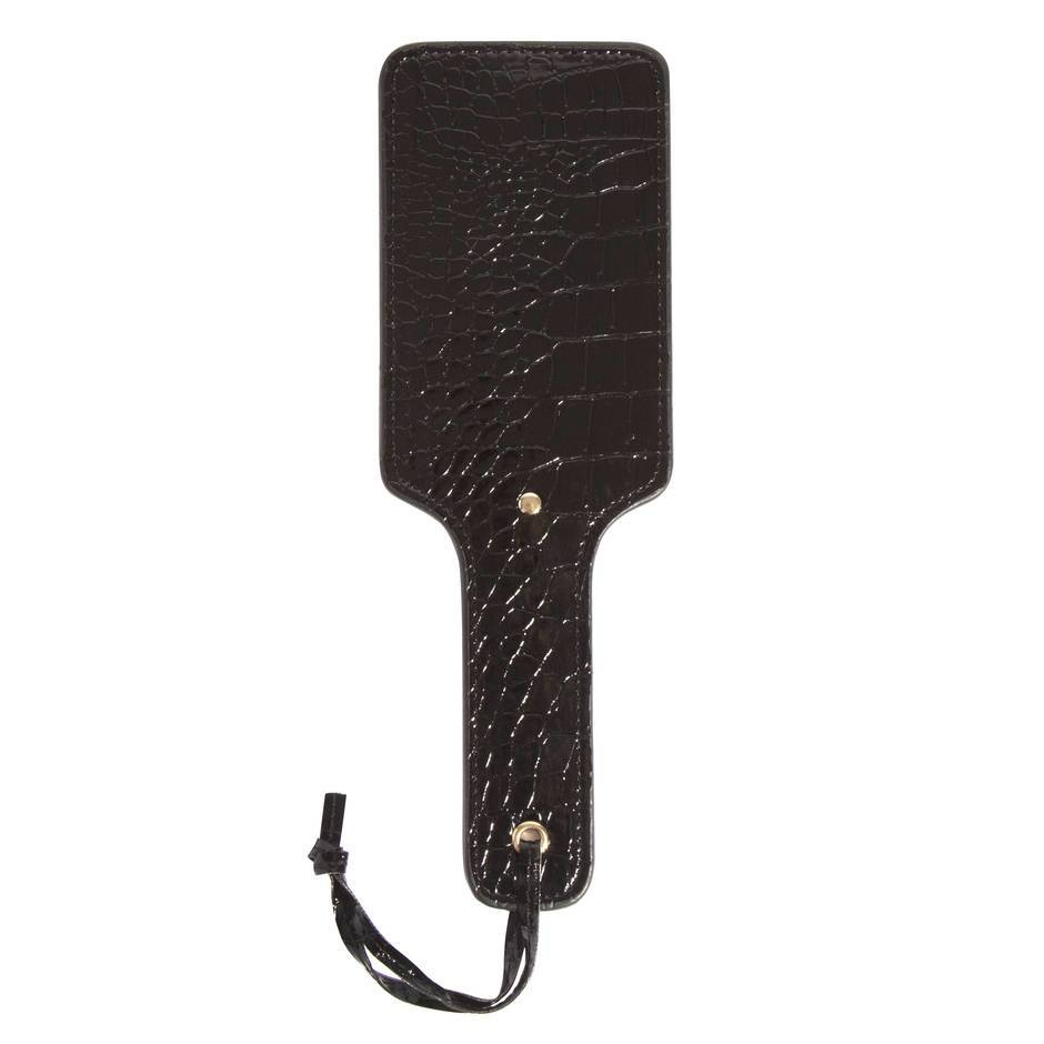 Fetish Fantasy Gold Pleasure Faux Crocodile Leather Paddle